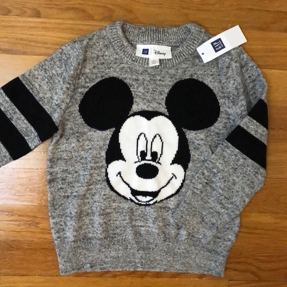 Gap Shirts Tops Baby Toddler 2 Mickey Mouse Sweater Nwt Poshmark